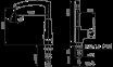 Смеситель для мойки KFA ARMATURA KWARC (4203-914-00) 0