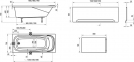 Акрилова прямокутна ванна Vanda II 160x70 Ravak 0