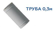 Труба (0,8mm) 0,3м,  ф130