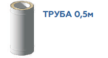 Труба (0.8mm) 0.5м, н/н ф150/220