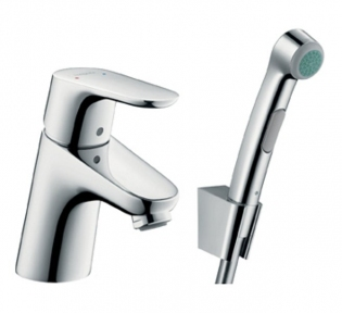 Змішувач для умивальника Focus Е2 з гігієнічним душем Hansgrohe (31926000)