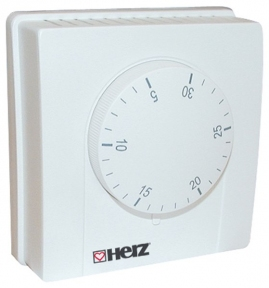 Електро-механічний кімнатний термостат (5-30*С, 230v) HERZ, 3F79100