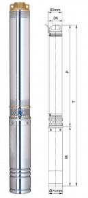 Глибинний насос Aquatica 750Вт Hmax 111м Qmax 45л/хв (62220)