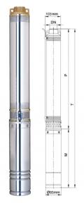 Глибинний насос Aquatica 250Вт Hmax 33м Qmax 80л/хв (777111)