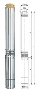 Глибинний насос Aquatica 250Вт Hmax 42м Qmax 55л/хв (777442)