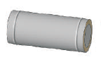 Труба (0.5mm) 0.25м, н/н ф130/200