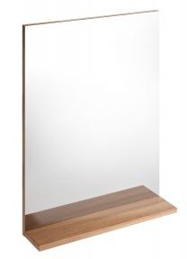 Зеркало MESTA с полочкой темный ясень